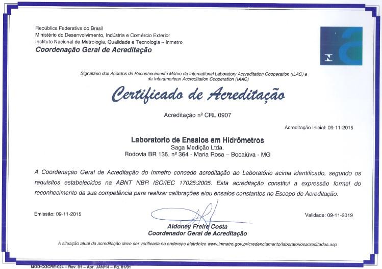 Certificação ABNT NBR ISO/IEC 17.025